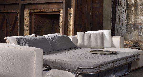 Completo lino per divano letto